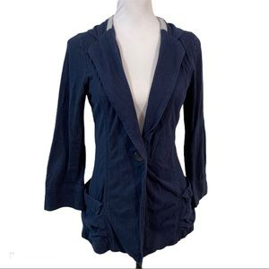 Free People We The Free Knit Jacket Top Sz M Blue